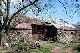 1830 Stone barn, rural Montgomery County, Maryland