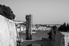 Down (petia.balabanova(tnx for +3 million views)) Tags: blackandwhite monochrome nikond800 50mm malta valletta travel city view sea buildings elevator cityscape