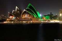 Happy St Patrick's Day (edzwa) Tags: therocks newsouthwales australia au sydneyharbour sydney green stpatricksday longexposure sydneyoperahouse water reflections lights