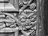 Pagan Green Man Carving on Cathedral Door, (digital defect) Tags: helios582442 gothic greenman carving door pagan medieval blackandwhite