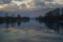 Silence (charhedman) Tags: fortlangley fraserriver justbeforethesunset clouds reflections river water trees redbuoy silence ilovethisplaceandsodocertainothersiknow lastnightonthewayhomefromadaytrip