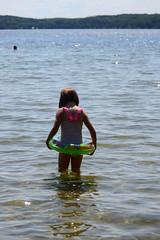 Walking in the Water (Vegan Butterfly) Tags: outside outdoor summer beach lake vegan person child kid cute adorable homeschool homeschooling tube swim swimming fun