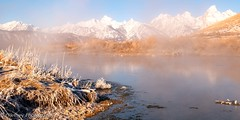 Morning Mist (OJeffrey Photography) Tags: thegrandtetons mountains snow frost steam geothermalpool panorama pano nikon d850 ojeffrey ojeffreyphotography jeffowens