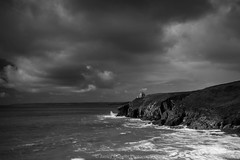 Storm (James Etchells) Tags: cornwall kernow rinsey porthleven black white monochrome sky clouds storm water sea ocean rocks rock rocky coast coastal waves south west england britain uk landscape seascape landscapes seascapes light dark contrast structure texture movement action motion dramatic shore bay