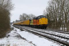878 37116 + 37254 3Z01 Colas-NR PHH_7608 (paulhunterhiggins377) Tags: englishelectric diesel dieselelectric derbyrtc testtrain networkrail claydon class37 colas colasrailfreight br britishrail 37116 37254 d6954 d6816