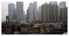 Downtown Manhattan from Brooklyn Bridge. (tonywright617) Tags: brooklynbridge manhattan ny newyork usa fujicag617 kodak iso400 120 mediumformat film analogue