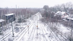 Lost places - Ehemaliger Güterbahnhof Dortmund (Christian Passi - Steher82) Tags: railway rail snow schnee winter germany deutschland eisenbahn schiene gleis lost lostplaces 169 photography photo sonya6000 a6000 sel1650 alpah verlassen kontrast contrast