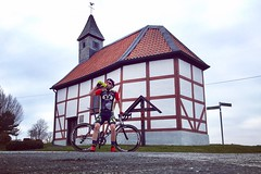 Break in Werringsen-Menden on the St. Michaelskapelle ⛪ (Christian Passi - Steher82) Tags: ich cycling me cycle bicycle bike church kirche kapelle land deutschland iphone iphonese people selfie outdoor germany cyclelife photography photo zweirad street landstrase