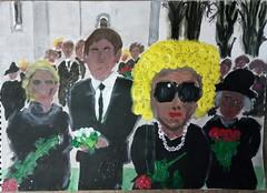 Geschichten aus der feinen Gesellschaft (raumoberbayern) Tags: acryl acrylic sketchbook painting skizzenblock robbbilder funeral society peinture
