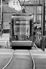 Tram à 50 (ZUHMHA) Tags: lyon france urban urbain perspective véhicule tram tramway rail line lignes courbes curve letter lettre mot word sign texte text écriture chiffre nombre number numéro glass reflect reflection
