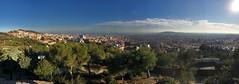 Panoramic view of Barcelona from Turó de les Tres Creus (procrast8) Tags: barcelona spain sagrada familia torre agbar tower mapfre hotel arts three cross turo tres creus