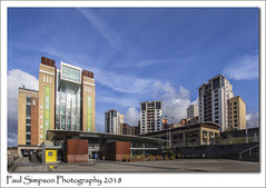Baltic Centre, Gateshead (Paul Simpson Photography) Tags: gateshead tyneside england paulsimpsonphotography highrise april2018 urbanphotography city urbansprawl baltic bluesky sonya77 imagesof imageof photoof photosof urbanliving balticcentre museum gallery sky architecture buildings