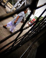 Caught the man walking up slowly on the Rail (samarjitsinha) Tags: ifttt 500px train rail man journey traveling west bengal city transportation platform morning cloudy busy working lazy calm tracks weekend hectic enjoyment cityscape