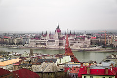 Budapest Parliament (kyriakides_e) Tags: parliament budapest hungary goverment architecture buildings city cityscape plain sky foggy clouds cloudy sony a5100 tourism danube river europe trip tourist