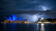 Storm at the Opera (Former Instants Photo) Tags: sydney operahouse storm lightning harbor