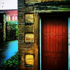 A door in Mansfield (GARYP71) Tags: door mansfield building wood brick gate nottinghamshire uk england