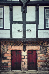 Parish boundary Chester (Explored April 18) (another_scotsman) Tags: chester parishboundary blackandwhite timberframe almshouse architecture