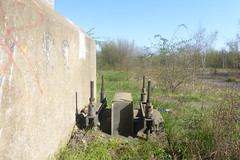 Former railway electrification structure near Tinsley Yard, Catcliffe  (Former SDR route)   April 2018 (dave_attrill) Tags: catcliffe sheffield railway line disused trackbed remains goods sdr ballast parkway bridge electrification groundwork april 2018 sheffielddistrictrailway southyorkshire