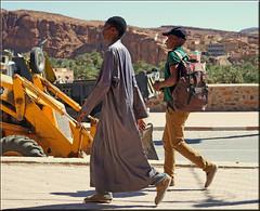 walking to school? (mhobl) Tags: walk walking boys aitherbil maroc technic morocco yellow