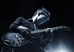 rock guitarist in blue (-liyen-) Tags: music guitar rockguitar concert blue male portrait candid onstage band performer mpt615 matchpointwinner challengeyouwinner