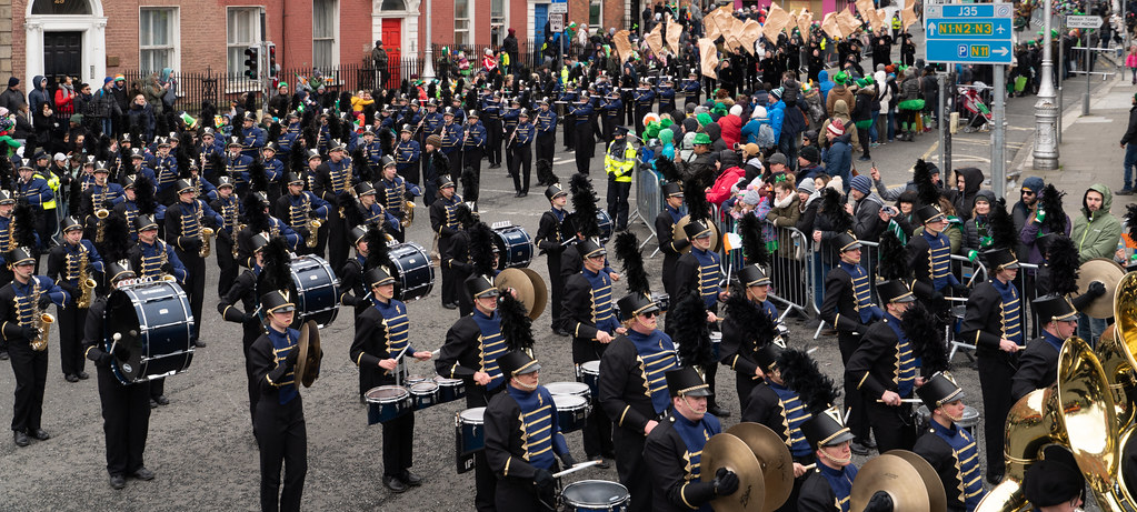 Legacy High School Lightning Marching Band [St. Patricks Day Parade 2018 In Dublin]-137537