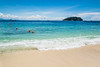 coral beach (Wanda Amos@Old Bar) Tags: sabah wandaamos beach blue boats bouys clouds island landscape sand sea seascape sky tropical water 7dwf