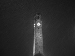 Snowy Clock Tower (absoluteforecast) Tags: tower snow night cold weather england stone light snowing winter dark black white