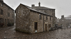 Snowing at Grasington Folk Museum (42jph) Tags: snow march spring uk england yorkshire wharfedale nikon d7200 snowing village grassington folk museum