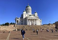 Helsinki Lutheran Cathedral. Helsinki, Finland (dimaruss34) Tags: newyork brooklyn dmitriyfomenko image sky finland helsinki svetlanafomenko church cathedral helsinkilutherancathedral square people stairs senatesquare