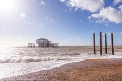 The remains of the West Pier, Brighton *4* (Zoë Power) Tags: westpier beach uk brighton derelict blueskies coast sea seaside