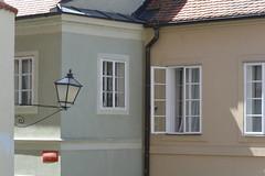pale colour town (Hayashina) Tags: moravia telč czechrepublic lamp window palecolours