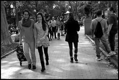 Fall in Philly (E&S Photog) Tags: rittenhousesquarephiladelphia blackwhite border streetphoto street people