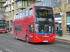 SLN 19747 - LX11BCE - BERESFORD STREET WOOLWICH - FRI 17TH MAR 2018 (Bexleybus) Tags: stagecoach london woolwich arsenal beresford street se18 adl dennis enviro 400 19747 lx11bce tfl route 422