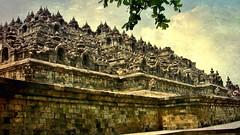 "INDONESIEN,Java, Borobudur - buddhistische Tempelanlage, 17263  (Tex. Pic Monkey) , 9779 (roba66) Tags: reisen travel explorevoyages urlaub visit roba66 asien südostasien asia eartasia ""southeastasia"" indonesien indonesia ""republikindonesien"" ""republicofindonesia"" indonesiearchipelago inselstaat java borobodur barabudur tempelanlage tempel temple yogyakarta ""mahayanabuddhismus"" ""buddhisttemple"" buddha relief statue bauwerk building architektur architecture arquitetura kulturdenkmal monument fassade façade platz places historie history historic historical geschichte textur texture effecte"