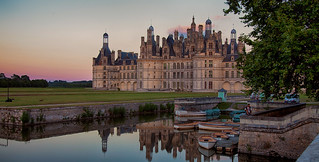 Castle Chambord in the evening light