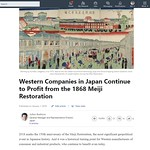 Western Companies in Japan Continue to Profit from the 1868 Meiji Restoration thumbnail