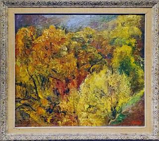 1955 pintura Otoño de Jesus Martinez Basiano Museo de Navarra Pamplona