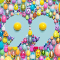 Eggstravaganza (J Trav) Tags: thingsorganizedneatly 99 easter eggs colorful seamless knoll