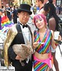 Dr. Takeshi Yamada and Seara (Coney Island sea rabbit). Brooklyn, New York.     20160626Sun Gay Pride Parade. DSCN7015=p3025C2 (searabbit29) Tags: takeshiyamada fineartexhibitions museumcollections famous japanese japaneseamerican artist osaka tokyo japan tv painting sculpture photography graphicdesign sideshow freakshow banner gaff performance fashiondesign fashion tophat jabot jewelrydesign victorian gothic goth steampunk dieselpunk fashiondesigner playboy bikini roguetaxidermist roguetaxidermy taxidermist taxidermy specialeffect cabinetofcuriosities dimemuseum seara searabbit coneyisland mythiccreature cryptozoology cryptid brooklyn newyorkcity nyc newyork