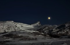 "A full moon above ""Mt.Kartstaven"" in Lofoten islands (steinliland) Tags: utvalgtefotos moon full arcticnature lofotenisland winter winterscape"
