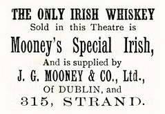 British advertisements: (painting in light) Tags: london 1890 ad advert advertisement sell selling england victoria mooneys special irish whiskey booze alcohol spirits