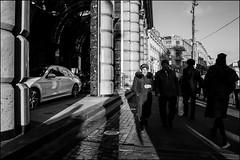 DR160218_0207D (dmitryzhkov) Tags: russia moscow documentary street life human monochrome reportage social public urban city photojournalism streetphotography people bw dmitryryzhkov blackandwhite everyday candid stranger couple two crowd mob face streetportrait portrait walk pedestrian walker outdoor passerby shadows lights