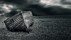 ALL ALONE.... (kirby126) Tags: dungeness kent boat cold grey bleak canon6d canon24105mm coast walkabout greatstone