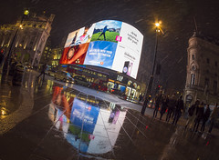 here comes the snow (Wizard CG) Tags: piccadilly circus london long exposure england gb great britain uk united kingdom cold skyline outdoor architecture city night bus cityunderground station traffic epl7 urban motion road building railroad people sky