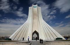 Azadi Tower, Tehran (kulpinskybirds) Tags: iran azadi tower clouds architecture persia