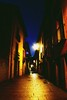 Walking the streets... (Octubres rotos) Tags: street city leon spain españa night calle ciudad noche relax calm dusk evening blue azul humedo bicha pleasure canon 1100d 1855 albapardoom urban tarde late tapas sanmartin