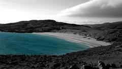 Blue Beach (Mciomhir) Tags: monochrome scotland desaturated harris hebrides greyscale maciomhair hebbw