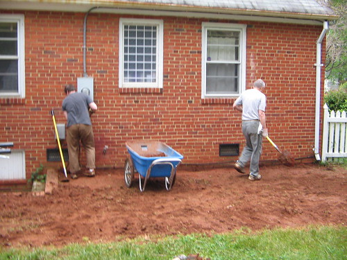 French drain digging