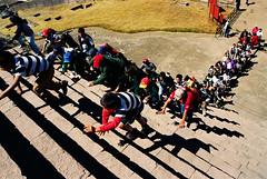 Scramble (Proggie) Tags: mexicocity pyramid hummingbirdxmas climb stairs