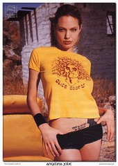 Angelina Jolie in an Alice Cooper t-shirt